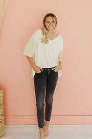 After Hours Lemon Cream Ribbed Top - FINAL SALE - FINAL FEW