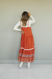 Sunset Rust Maxi Dress - Restocked