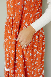 Sunset Rust Maxi Dress - FINAL FEW