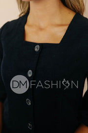 Roxy Black Corduroy Dress - DM Exclusive