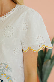 Valentina Scalloped Lace Top