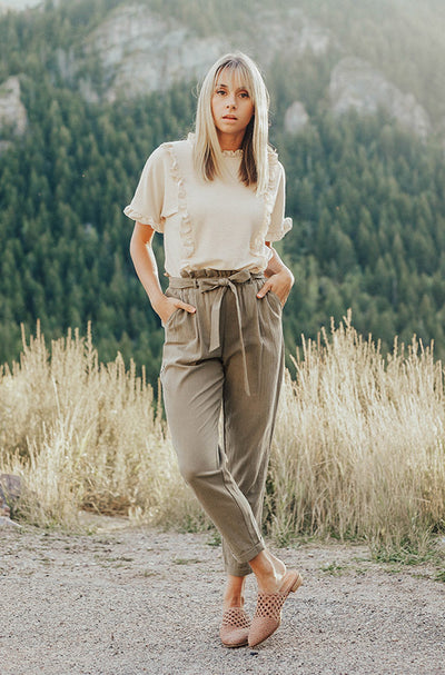 Boardwalk Olive Paper Bag Pants