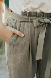 Boardwalk Olive Paper Bag Pants - FINAL SALE
