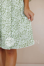 Raven Olive Floral Dress - DM Exclusive - Restocked