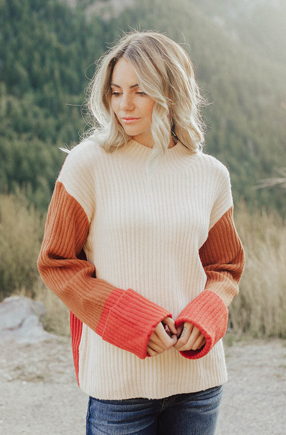 Danika Color Block Sweater