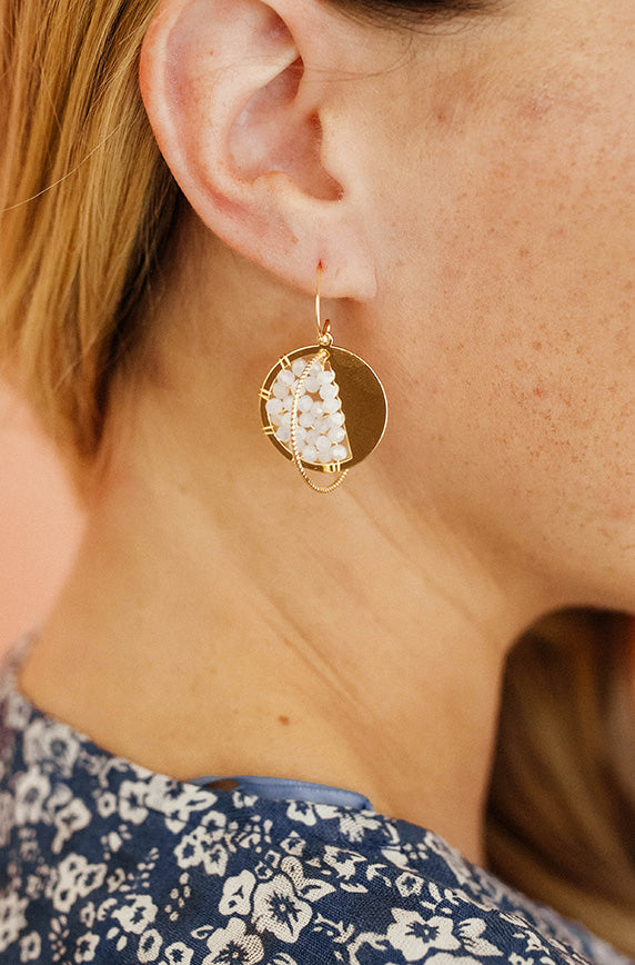 Gold Geo Circle Earrings - FINAL SALE