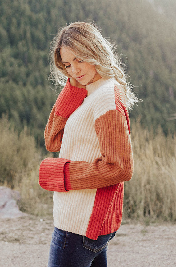 Danika Color Block Sweater - FINAL FEW