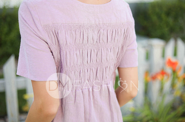 Georgie Lilac Smocked Dress - DM Exclusive