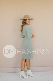 Roxy Sea Foam Green Corduroy Dress - DM Exclusive