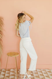 Newport Tied White Denim Pants