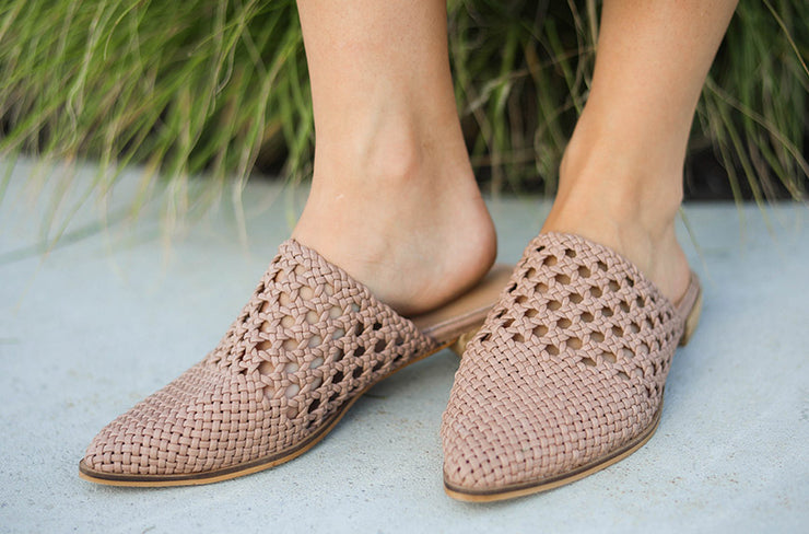 Rhea Faded Rose Mules