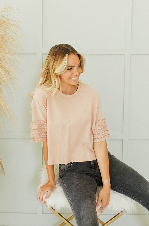 Promise Me Dusty Apricot Top