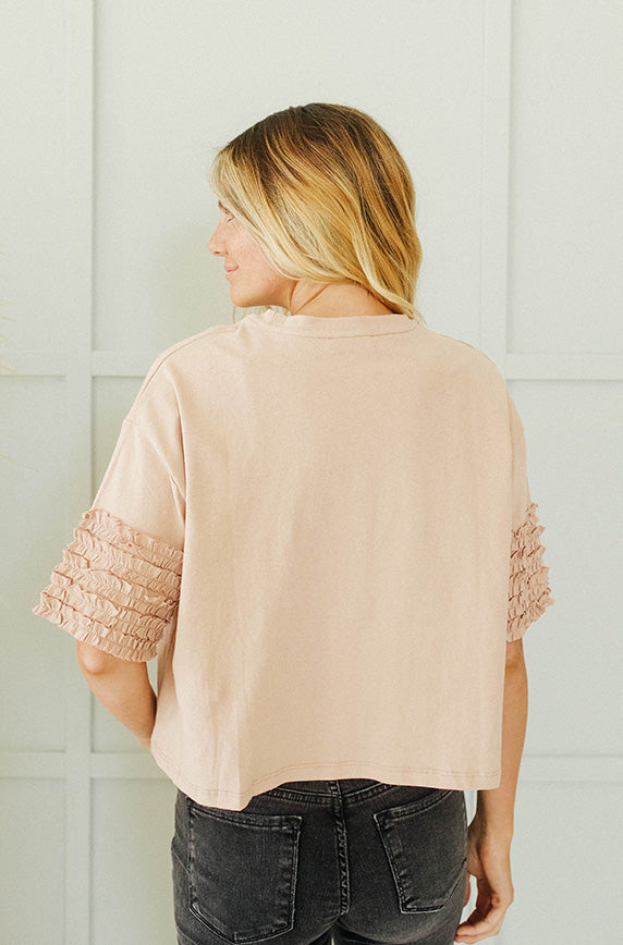Promise Me Dusty Apricot Top - FINAL SALE