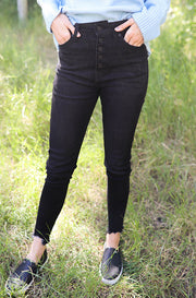 Casey Black High Rise Skinny Jean