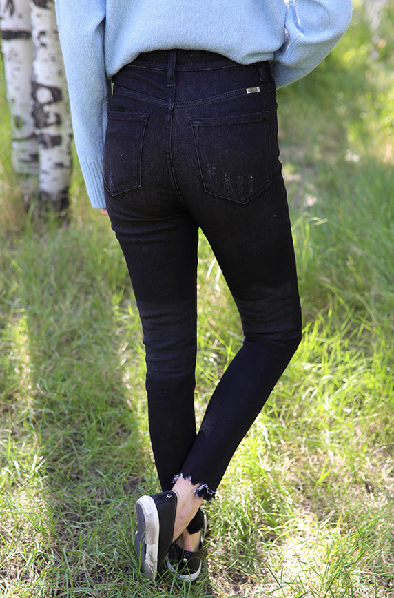 Casey Black High Rise Skinny Jean - FINAL SALE