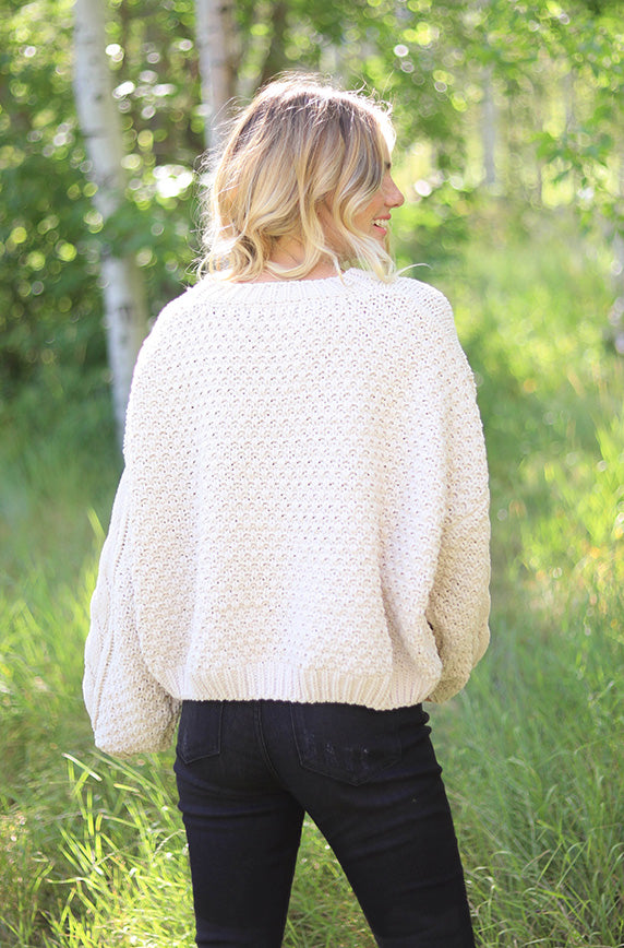 Divine Chenille Ivory Sweater