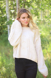 Divine Chenille Ivory Sweater - FINAL SALE