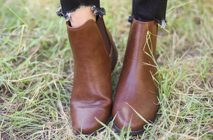 Uptown Brown Boots