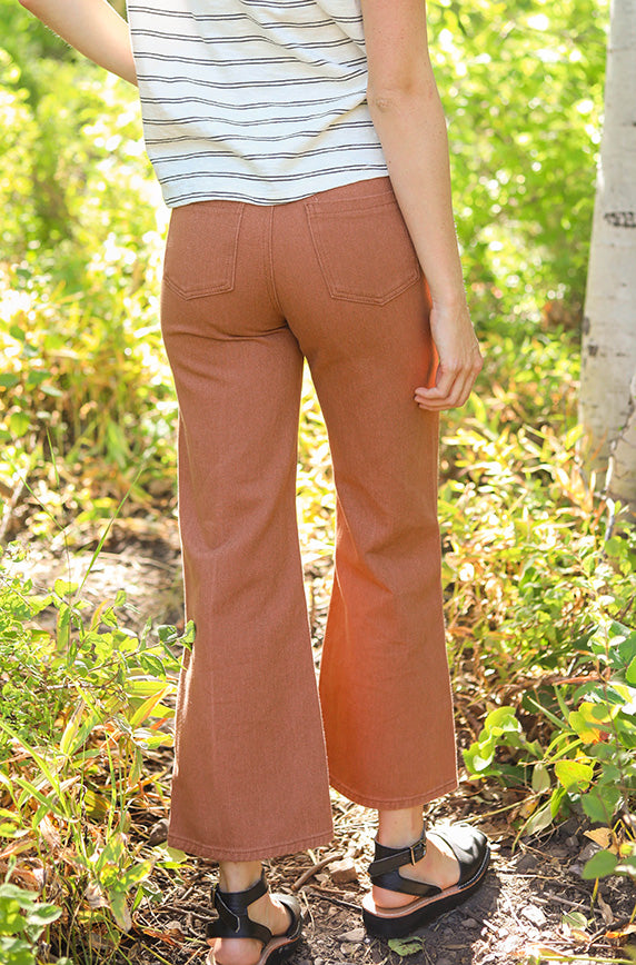 Never Looking Back Midrise Rust Jeans - FINAL SALE