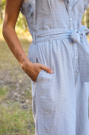 Lynwood Light Grey Ruffled Jumpsuit