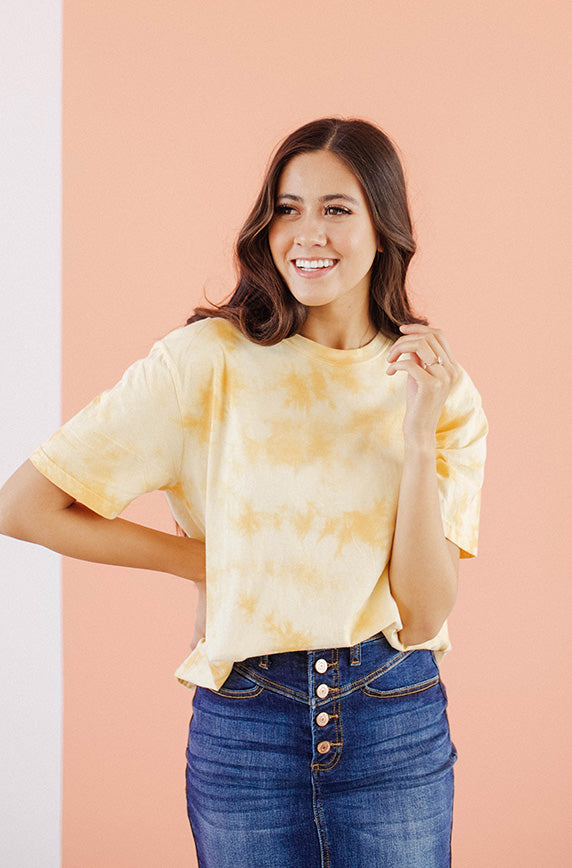 Summer High Yellow Tie Dye Top