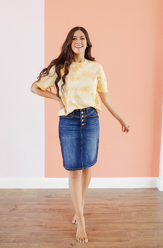 Sweet On You Denim Skirt