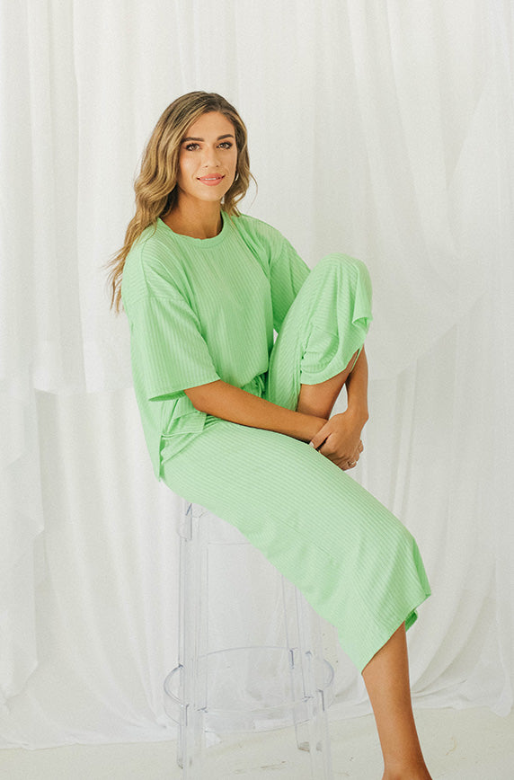 Girls Night In Lime Green Set