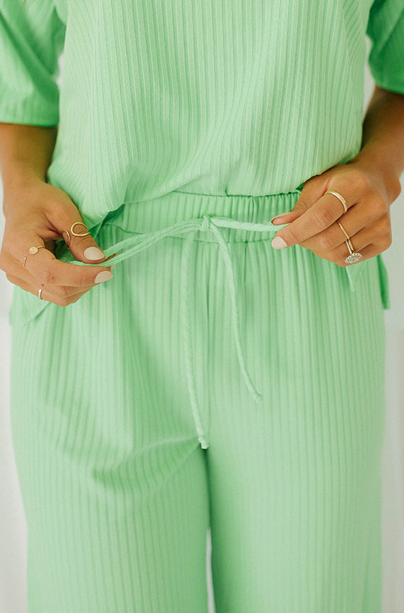 Girls Night In Lime Green Set- Restocked