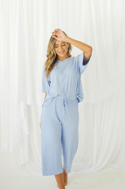 Girls Night In Sky Blue Set - Restocked