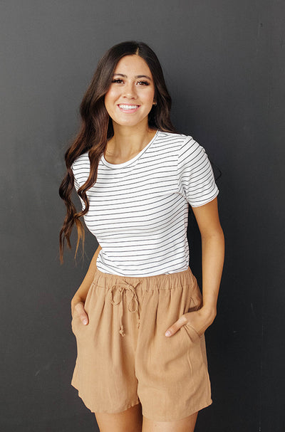 Sonata White Striped Top