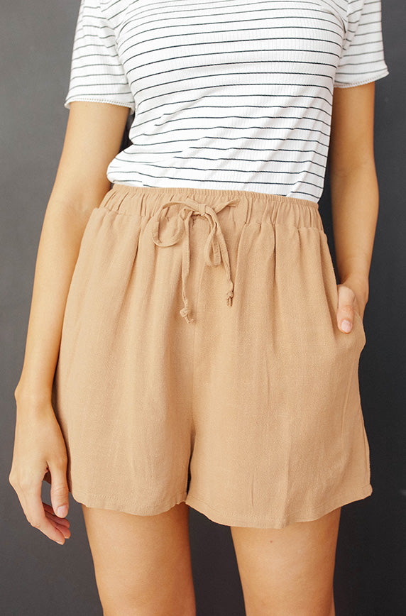 Light Hearted Tan Beach Shorts