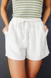 Light Hearted Oatmeal Beach Shorts