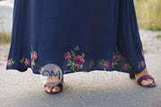Rachel Rose Navy Embroidered Maxi - DM Exclusive - FINAL SALE