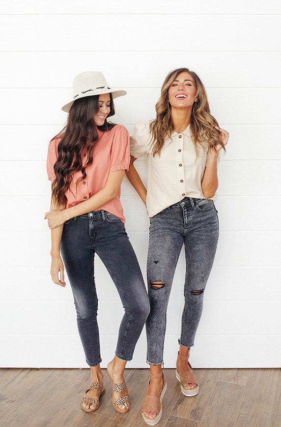 Bright Outlook Natural Button Up Top - FINAL FEW