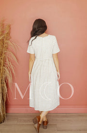 Harley Tan Gingham Dress - MCO