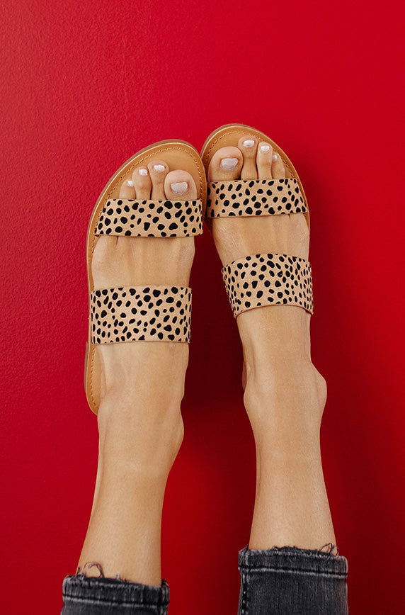 On My Own Leopard Sandals - FINAL SALE