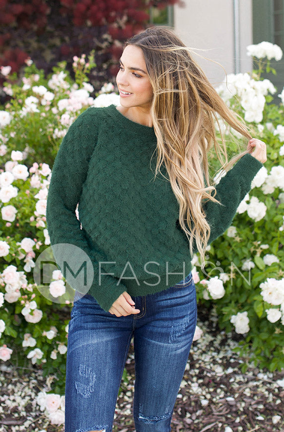What You Want Pine Green Sweater - DM Exclusive