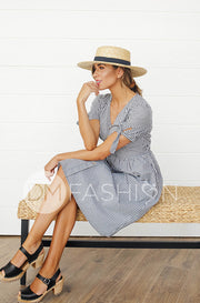 Janice Black Gingham Dress - DM Exclusive - Nursing Friendly - Restocked