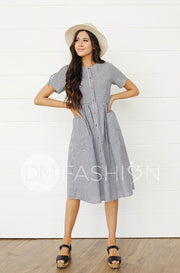 Emma Black Gingham Dress - DM Exclusive - Nursing Friendly