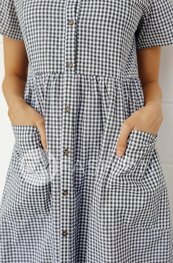 Emma Black Gingham Dress - DM Exclusive - FINAL SALE