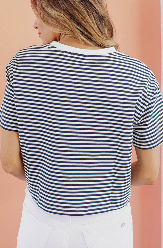 Kirby Navy Stripe Top - FINAL SALE