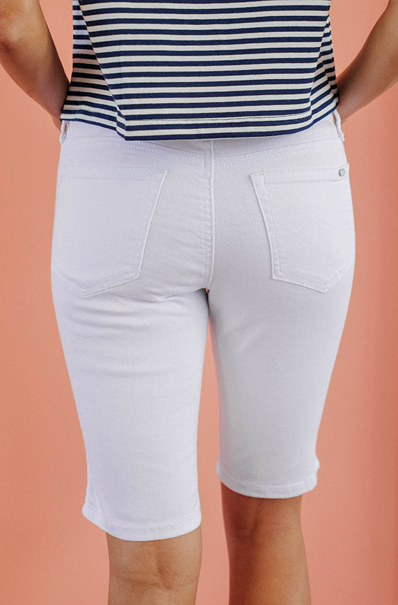 Keep It Fun White Bermudas