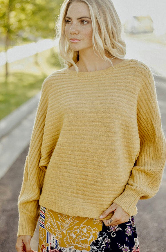 One In A Million Mustard Sweater