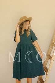 Minette Forest Green Dress - MCO - Preorder