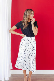 Cleo Leopard Midi Skirt - FINAL SALE