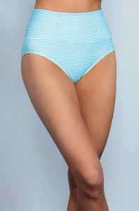 Banded Midrise - Aqua Stripe - FINAL SALE - DM Fashion