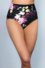 Banded Midrise - Black Floral - FINAL SALE - DM Fashion