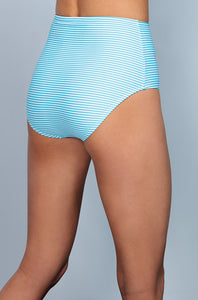 High Waisted - Aqua Stripe