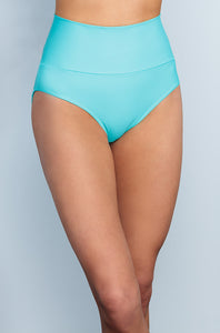 Banded Midrise - Aqua - FINAL SALE - DM Fashion