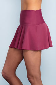 Ruffle Skirt - Red Plum - DM Fashion